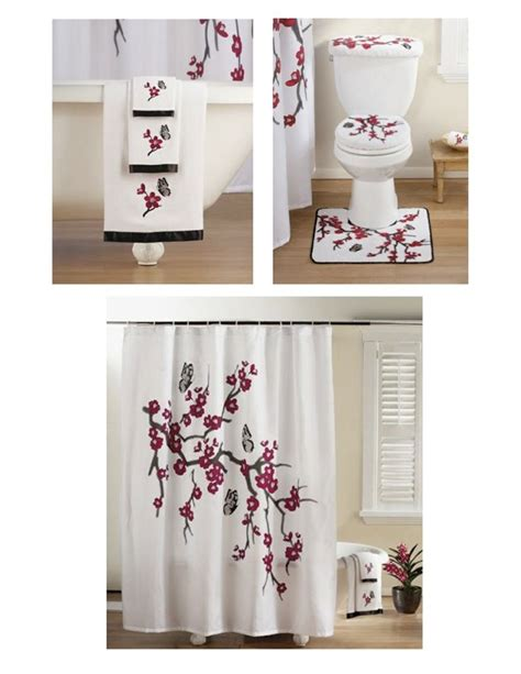 Japanese Cherry Blossom Bathroom Set by Quot Asian Cherry Blossom Quot Bathroom Set Bath Towel Set Towel