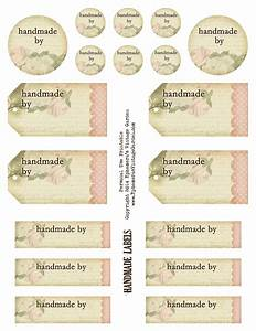 free and beautiful printable 39handmade by39 tags and With craft labels and tags