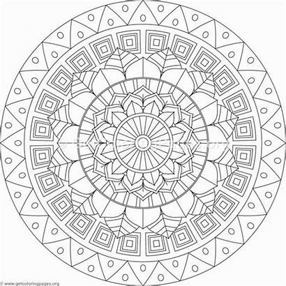 Tribal Coloring Pages Mandala Adult Sheets Easy
