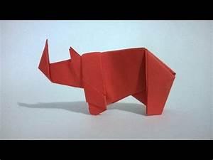 Origami  Rinoceronte De Papel - Origami Paper Rhino