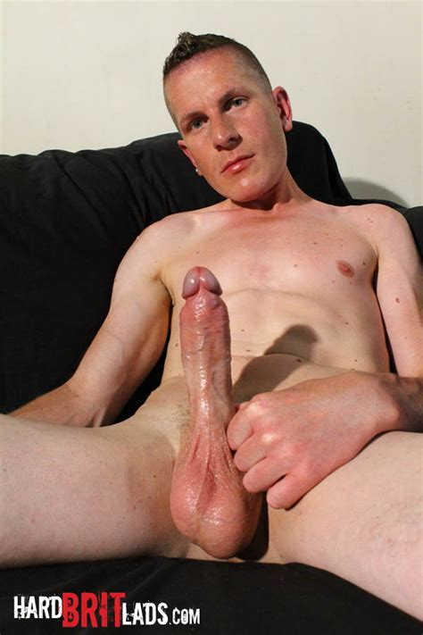 British Guy With Big Uncut Cock And Huge Balls Jerks His