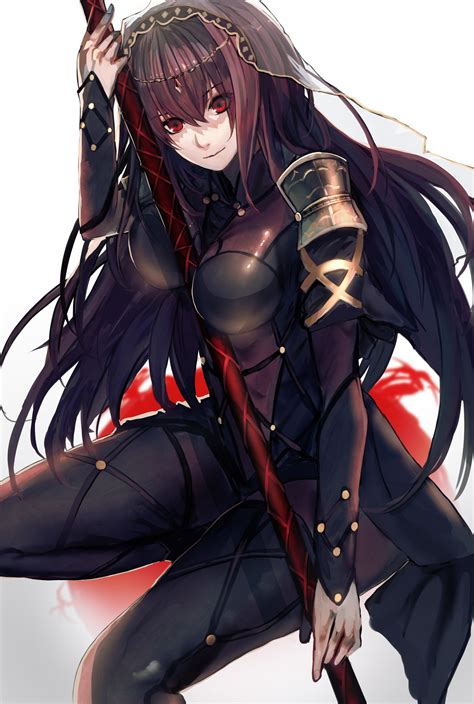 long hair bodysuit fate grand order scathach fate