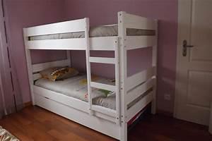Lit Enfant Superposé : lit enfant superpos 1 2 3 blanc 90x190 cm ~ Melissatoandfro.com Idées de Décoration