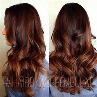 Ombre Hair Color with Auburn Highlights