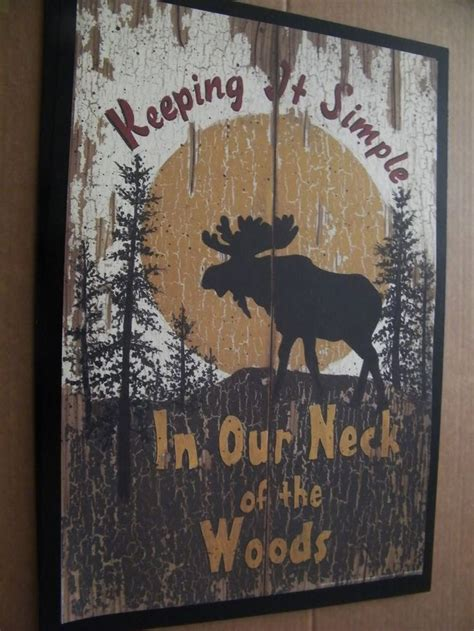 wood lodge spivey art moose sign keeping  simple