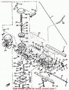 Yamaha Xs1100 H 1981 Carburetor