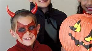 Halloween Schmink Bilder : so schminken sie einen teufel zu fasching ~ Frokenaadalensverden.com Haus und Dekorationen