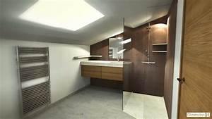 dimension h renovation dune salle de bains sous combles With plan salle de bain sous comble