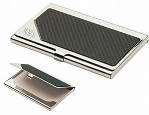Monogrammed carbon fiber business card holder personalized for Business cards holder case