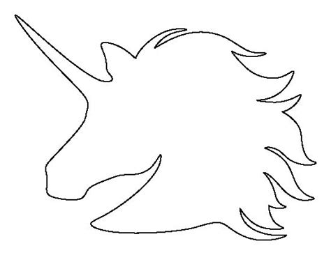 unicorn head pattern   printable outline  crafts