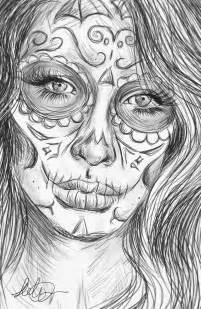 Realistic Sugar Skull Drawing