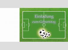 Geburtstagskarte Fußball Drucken ⋆ Geburtstag Einladung