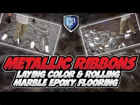 Metallic Ribbons   Laying Color & Rolling Marble Epoxy