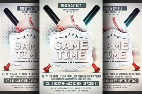baseball flyers sample templates