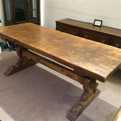vintage trestle table antique trestle table tables 1m to 2m 3261