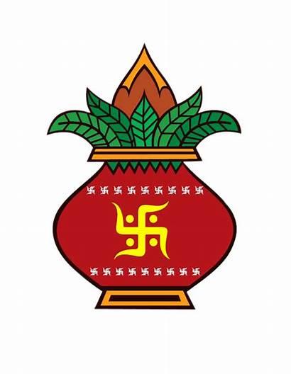 Kalash Clipart Indian Hindu Symbol Colour Marriage