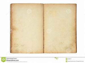 Open Old Blank Book Stock Image - Image: 6280871