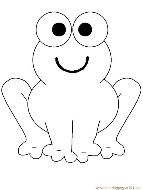 frog template frog coloring pages coloring home
