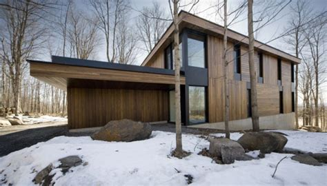 mountain chalet plan  quebec canada modern house designs