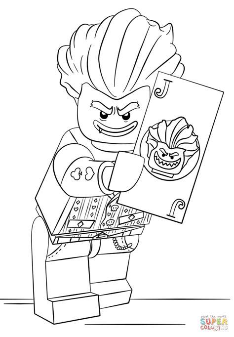 lego arkham asylum joker coloring page  printable