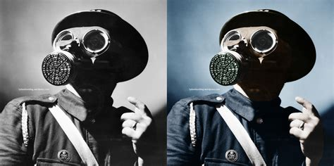 british air raid warden ww colorization