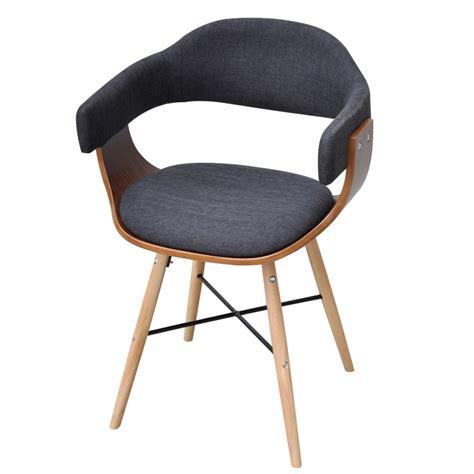 reparer chaise de bureau vidaxl bg трапезен стол с извита дървена рамка и тапицерия от плат 4 бр