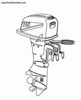 Boat Motor Coloring Outboard Engine Clipart Motors Boats Savannah Clipground Popular Ga Airport Library Coloringhome sketch template