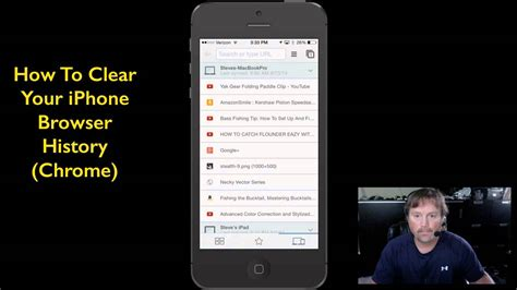 how to delete history from iphone how to delete search history on iphone web browser chrome