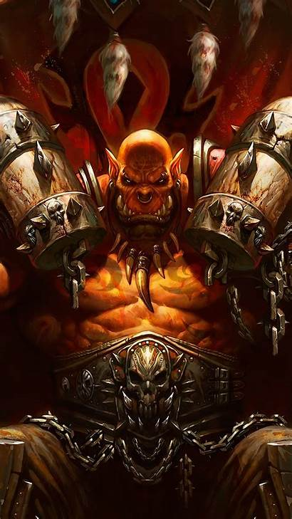 4k Garrosh Wow Hellscream Backgrounds Warcraft Wallpapers