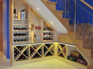 Rooms 2 Impress - Custom Made Under stairs Wine rack and