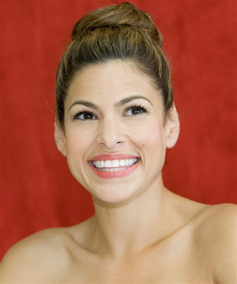 eva mendes casual long curly updo hairstyle