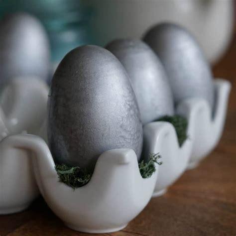 galvanized wooden easter eggs  easy spring spray paint