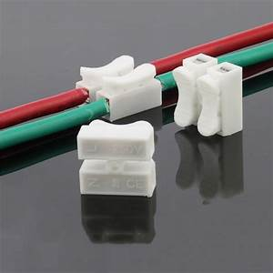 20x 2p Spring Wire Connectors Electrical Cable Clamp