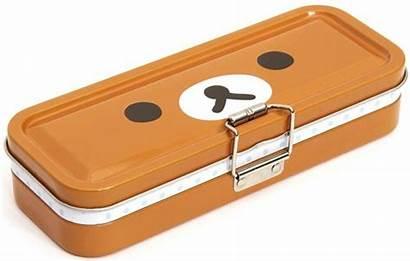 Pencil Clipart Box Brown Case Clip Rilakkuma