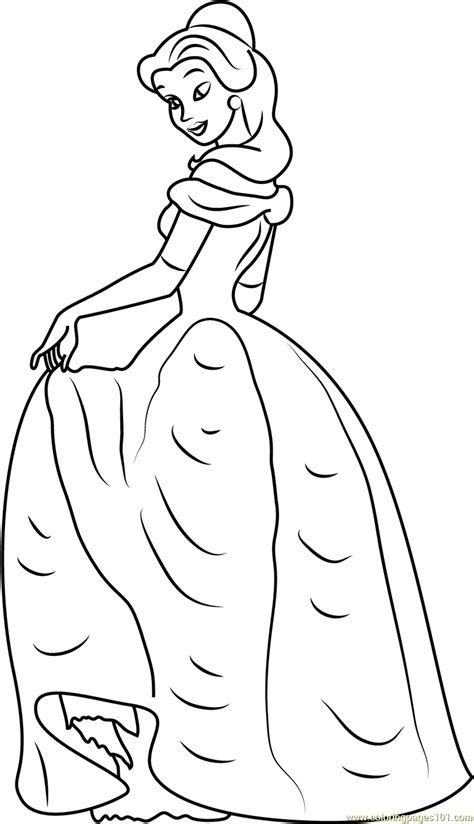 princess belle coloring page  beauty   beast coloring pages coloringpagescom