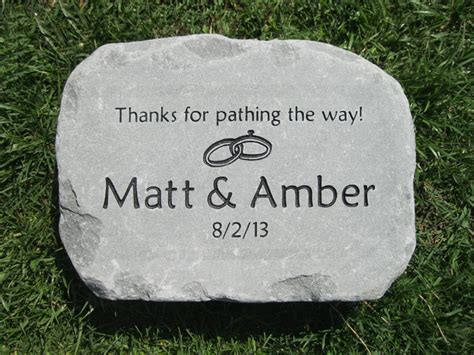 personalized stepping stones custom engraved garden