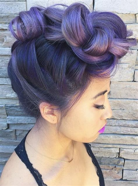 purple ombre hair ideas plum lilac lavender  violet