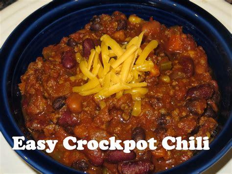 crockpot easy easy crock pot chili recipe dishmaps