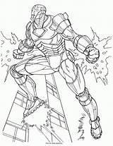 Coloring Ironman Pages Iron Printable Everfreecoloring sketch template