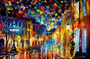 OLD PART OF TOWN — PALETTE KNIFE Oil Painting On Canvas By ...
