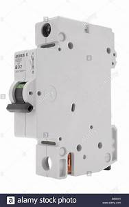 Electrical Circuit Breaker Fuse Box Switch On White