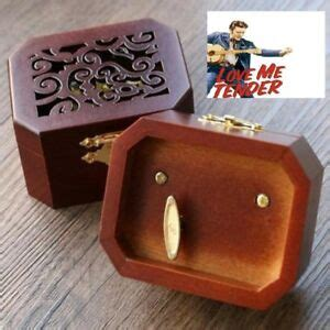 Music boxes for sale → cylinder music boxes. COLLECTIBLE OCTAGON CARVING MUSIC BOX ♫ Love Me Tender - Elvis Presley ♫ | eBay