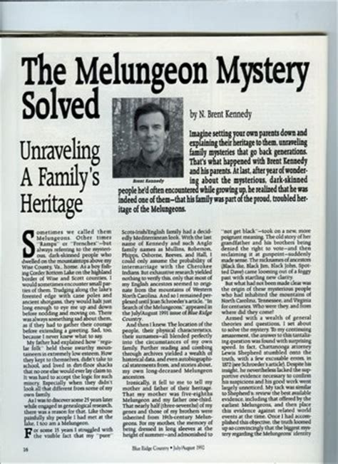 melungeon mystery solved blueridgecountrycom