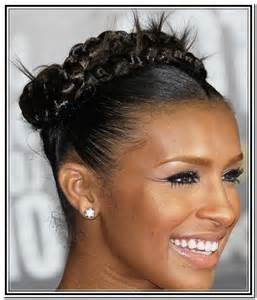 Black Braid Updo Hair Styles for Women
