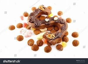 decorated chocolate letter s for sinterklaas with ginger With dutch chocolate letters christmas