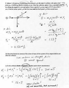Conservation Of Momentum Problems Worksheet. Lesupercoin ...