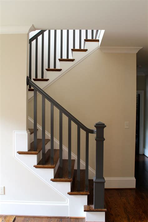 black pine studio dark painted stair rail beautiful