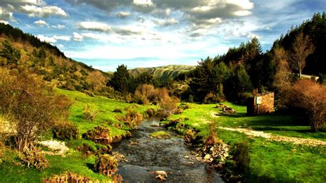 Spain Scenery Stream Clouds   HD Wallpapers