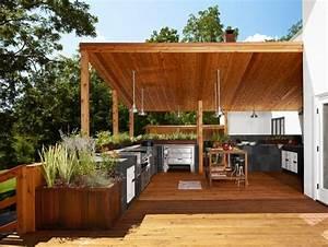cuisine exterieure ete 50 exemples modernes pour se With fontaine exterieure de jardin moderne 5 cuisine d ete exterieure design