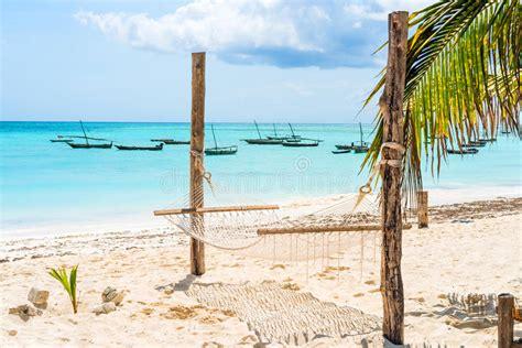 amaca sul mare vista sul mare con l amaca su una spiaggia immagine